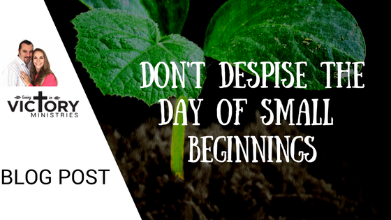 don't despise the day of small beginnings